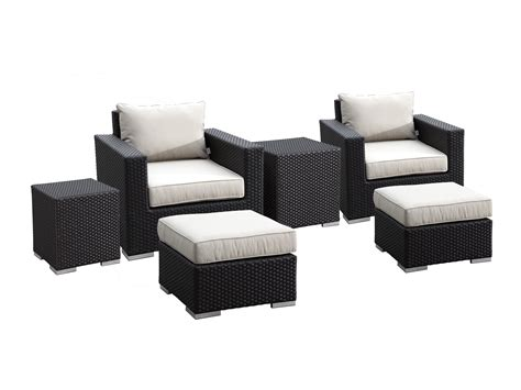 patio chair with nesting ottoman sunset west quick ship solana wicker club chairs ottomans