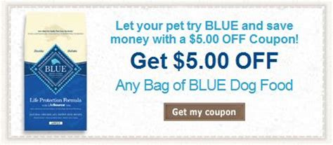 14283 Food Coupons By Mail by 5 Any Blue Buffalo Food Coupon Become A Coupon