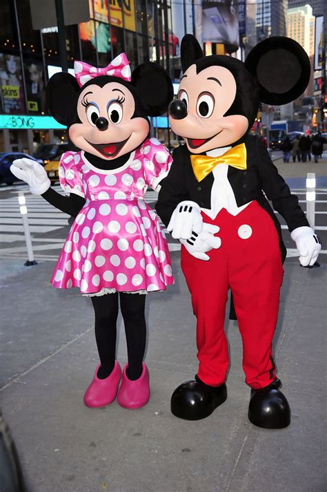 mickey mouse and minnie mouse launch of disney jr in times square zimbio