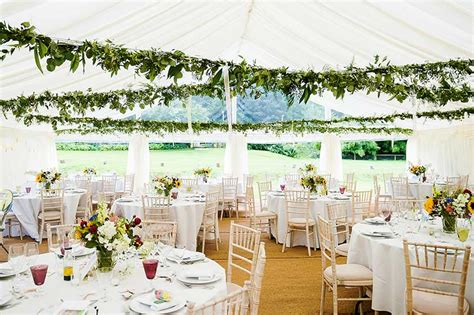 wedding marquee with leafy ceiling decoration marquee hire godalming