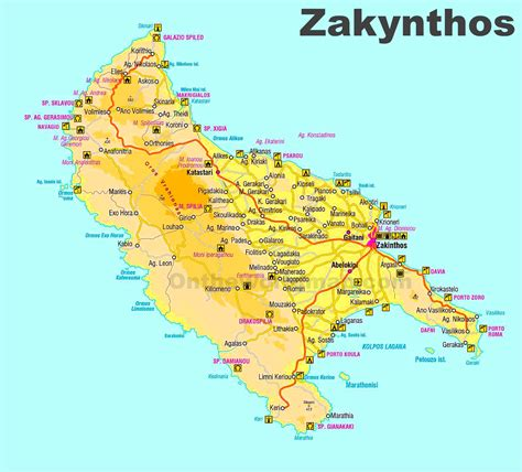 zakynthos sightseeing map