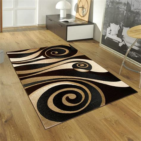 black and brown rug allstar rugs floral spiral black brown area rug reviews