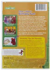 Sesame Street Elmo and Abby Birthday Fun