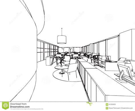 ensemble de bureau croquis intérieur de dessin d 39 ensemble de bureau