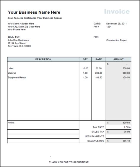 Contractor Invoice Template Excel Independent Contractor Invoice Template Invoice Exle
