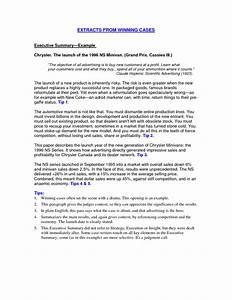 How To Write A Good Resume Summary Executive Summary