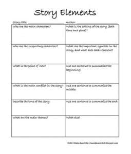 Worksheets Identifying Story Elements Worksheet story elements worksheet delibertad identifying delibertad