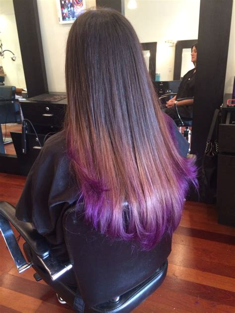 Ombre Purple Hair Tresses Color Bar Salon Wellington Fl