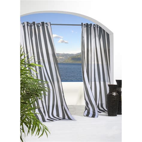 Outdoor Patio Curtains Canada by Commonwealth Home Fashions Canada 70503 109 Escape Stripe