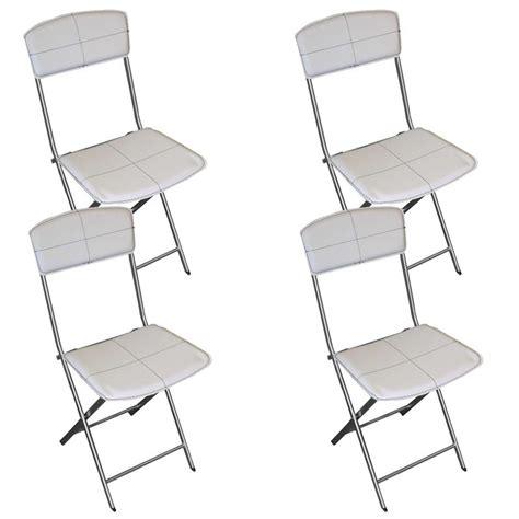chaises pliables chaises simili cuir blanc 28 images lot de 4 chaises