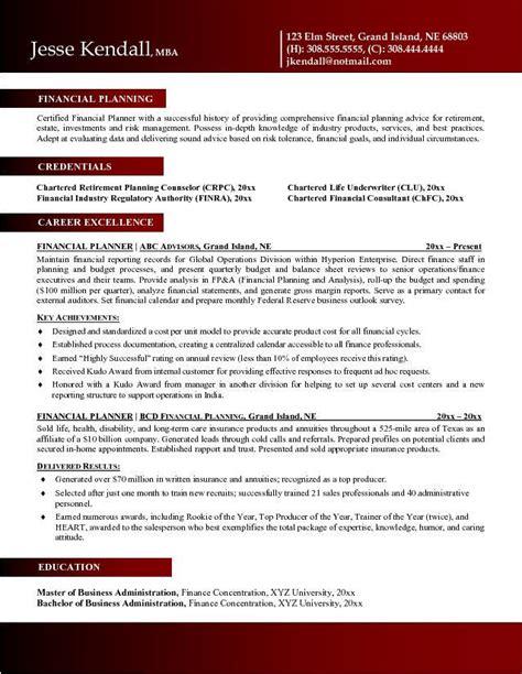 Financial Advisor Associate Resume by Financial Advisor Resume Exle Resume Format