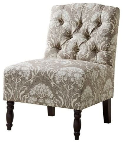 lola tufted armless chair armchairs and accent chairs