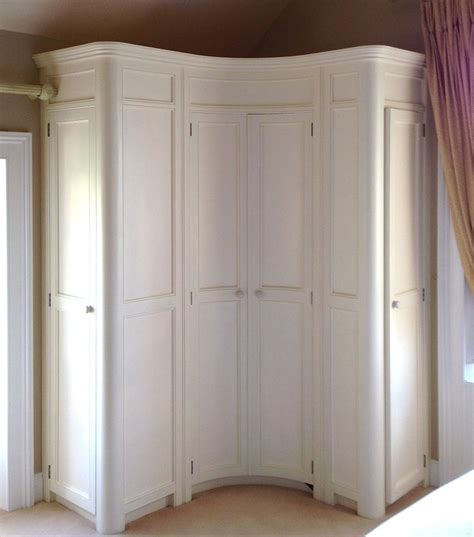 Corner Wardrobe by Curved Fitted Corner Wardrobe Painted In A Www