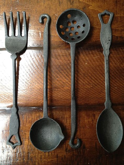 iron cast kitchen utensil utensils etsy cooking holder cookware