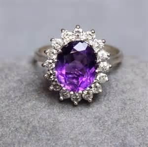 Antiques Atlas - Vintage Amethyst & Diamond Ring