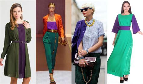 Зеленый, желтый и синий цвета в одежде