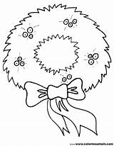 Wreath Coloring Pages Christmas Printable Holiday Holly Print Bow Colormountain Recommended Printout sketch template