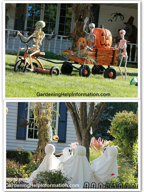lawn decorating ideas decorating your yard for halloween weed it reap