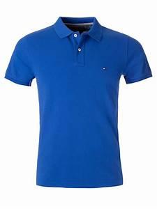 Tommy Hilfiger Slim Fit Polo Shirt in Blue for Men (Light ...