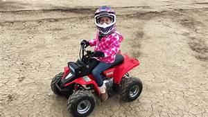My 6 Year Old Riding Her 70cc Chinese Atv No Crash