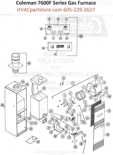 7656f856 coleman gas furnace parts hvacpartstore