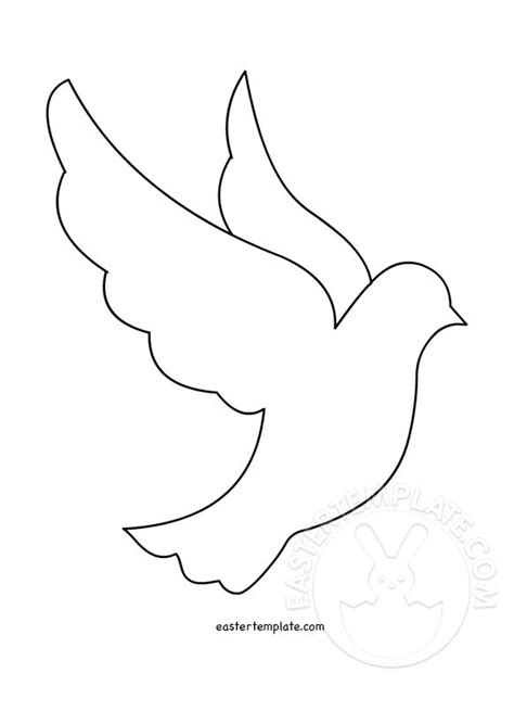 peace dove template printable easter template