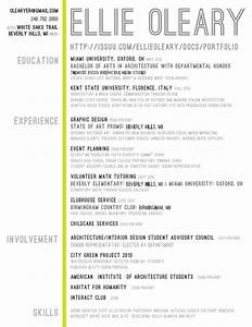 Architecture Student Resume experience involment skills  Writing Resume Sample Writing Resume