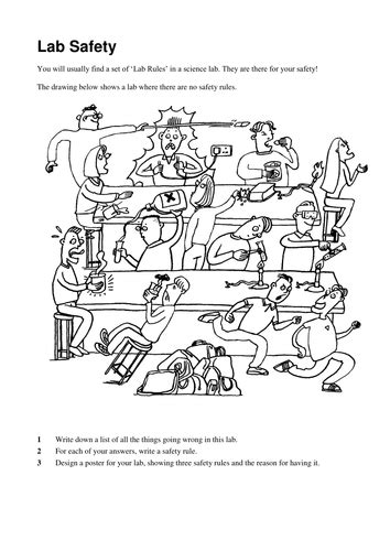 lab safety equipment worksheet  worksheets library