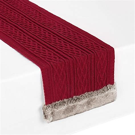 72 inch table runner buy ugg cable knit 72 inch table runner from bed bath
