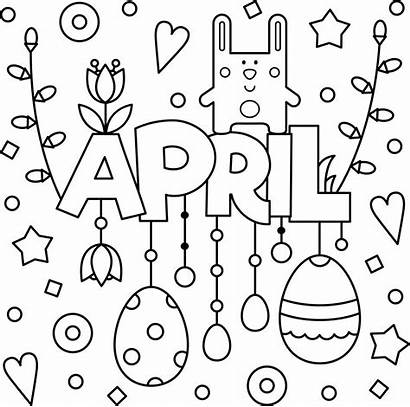 April Coloring Pages Colouring Adult Spring Welcome