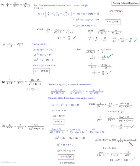 8 6 solving rational equations worksheet answers solving