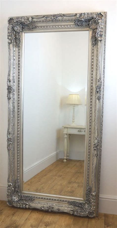 floor mirror at home details about chelsea silver ornate leaner antique floor mirror 36 quot x 72 quot x large furniture
