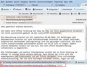Eine Offene Rechnung : sie haben eine offene forderung bei ebay paypal ~ Themetempest.com Abrechnung