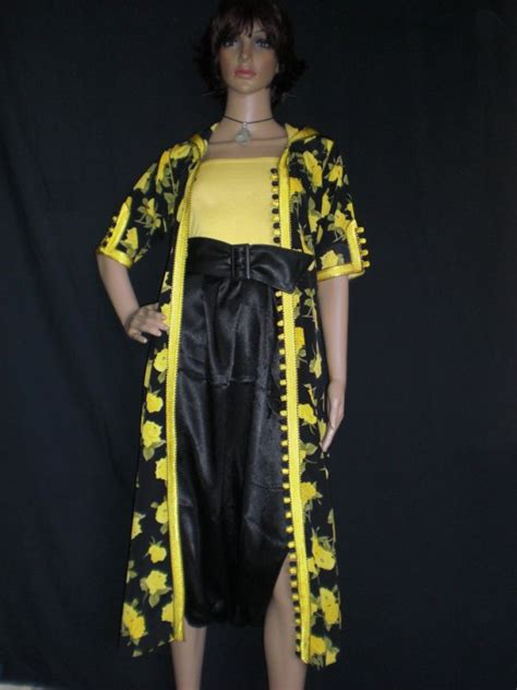djellaba ouverte avec pantalon et ceinture en cuire moderne caftan bensalam khadija