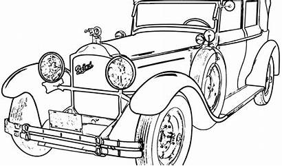 Coloring Drawing Cars Outline Printable Line Drawings