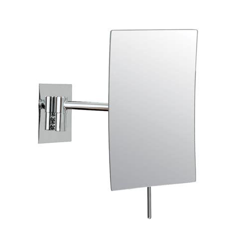 wall mounted makeup mirror rectangular 3x in wall mirrors