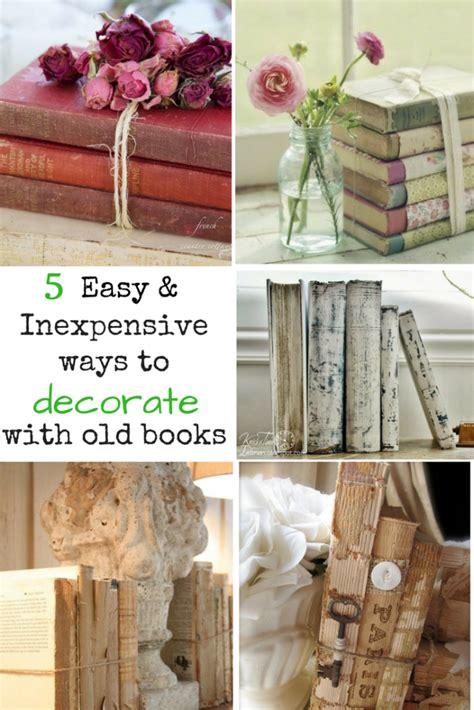 easy ways  upcycle  decorate  vintage books
