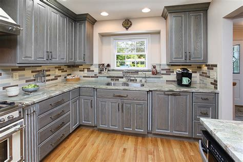 grey wood kitchen cabinets what brand are the cabinets what wood what stain what 4100
