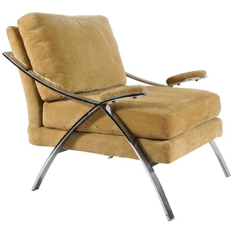 Single Armchairs For Sale by Single Chrome Baughman Armchair For Sale At 1stdibs