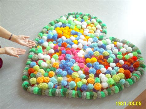 pom pom teppich diy pompom bommel tutorial selber machen how to make an pompon carpet