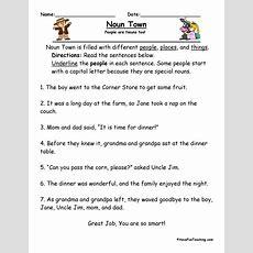 Resource  Second Grade  Noun Town Worksheet
