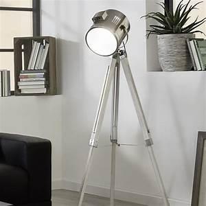 Eglo 94371 upstreet floor lamp in white wood and chrome for Ottoni floor lamp chrome