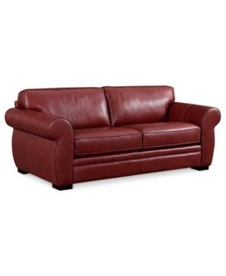 lear leather sofa bed full sleeper 75 quot w x 40 quot d x 32 quot h