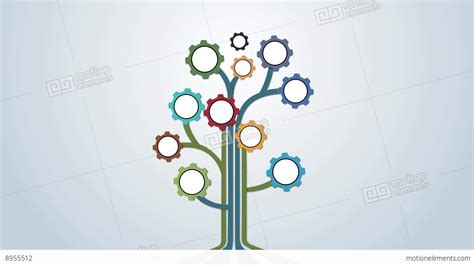 Tree Animation Wallpaper - mechanical coloured gear abstract tree animation for intro