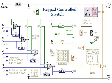 How Build Digit Keypad Controlled Switch Circuit