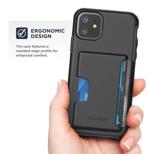 iphone  phantom wallet case black encased