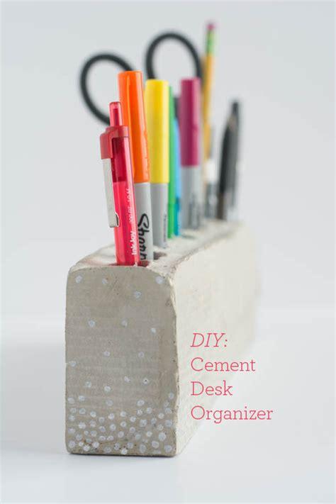 diy pencil holder for desk diy cement pencil holder design
