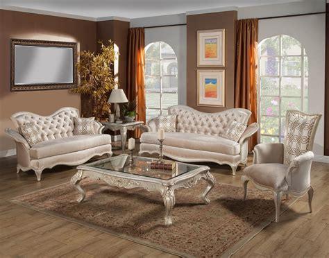 Benetti's Italia Perlita Wood Trim Sofa Set