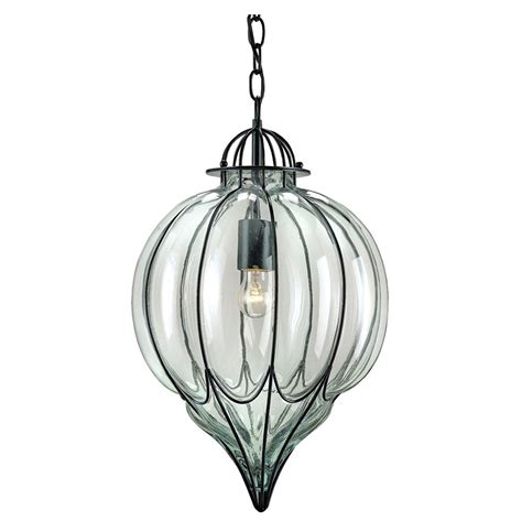 omar satin black blown glass 1 light pendant kathy kuo home