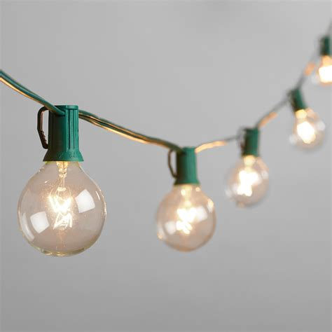 light bulbs on a string clear bulb string lights world market